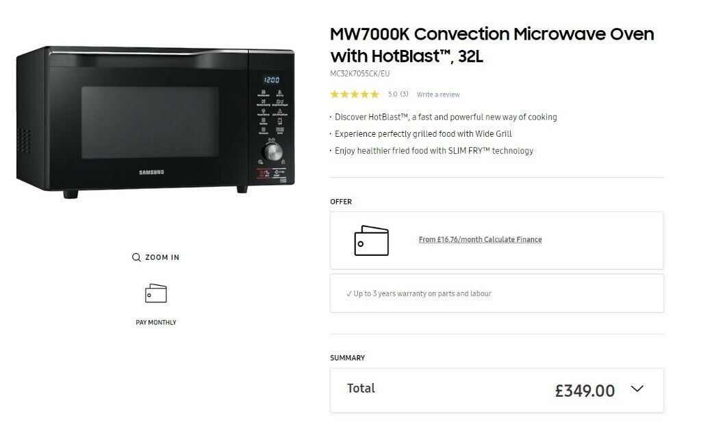 MW7000K Convection Microwave Oven with
