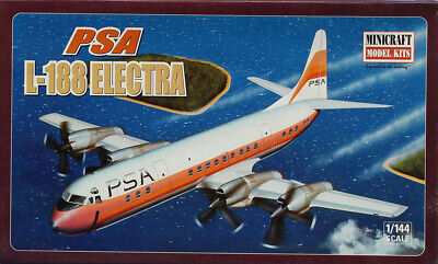 Minicraft 1:144 PSA L-188 Electra Plastic Aircraft Model Kit #14494U, used for sale  Shipping to Canada