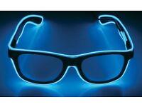 LED Light-up Funglasses in blue