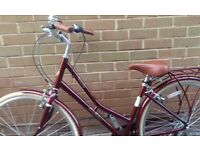 Ladies Victoria Pendleton Wine Red 17 inch Somerby bicycle with 7 gears