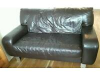 DFS Brown Leather Sofas - 3 Seater & 2 Seater Stunning