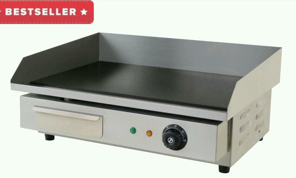 Industrial Electric Grill ~ Commercial electric griddle hot plate contact grill
