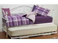 Day Bed with Trundle Bed - White
