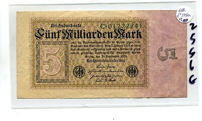 GERMANY 1923 5 MILLIARDEN MARK CURRENCY NOTE  VF 2556G