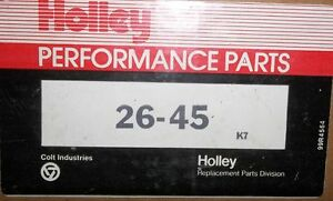 HOLLEY #26-45 & 20-48-1 1850 CARB TRANSFER TUBE & THROTTLE SHAFT