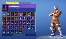 FORTNITE RARE Merry Marauder account with all battle pass completions