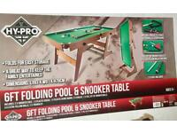 Brand 6ft snooker table