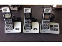 BT 2500 Digital Cordless Phones Trio - With Answer Machine
