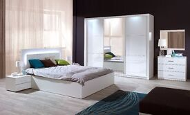 Delivery 1-10 days Brand New White High Gloss SLIDING DOOR WARDROBE We Can Delivered