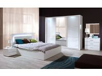 Delivery 1-2 weeks Brand New White High Gloss SLIDING DOOR WARDROBE We Can Delivered