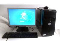 Gaming PC + 8 Games (i5, WIFI, Monitor, K/M) Radeon 4K, Office, Graphics Card) Desktop PC, Computer