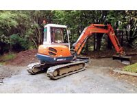 Digger works undertaken - drains, soakaways, site clearance, founds, service tracks and septic tanks