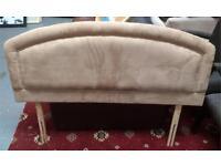 Suede double bed headboard