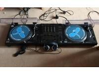 Technics 1210MK2 with pioneer mixer