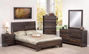 Christmas Promotion!  Canadian Made, Brown Finish, Queen Bedroom Set