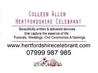 Hertfordshire Wedding Celebrant- Celebrate your wedding YOUR way