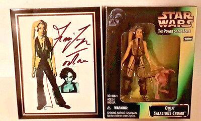 Toy Expo Ltd Ed Star Wars Oola/Salacious Crumb Action Figure Signed Femi Taylor