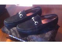 Gucci Black Suede Shoes Size 9.5