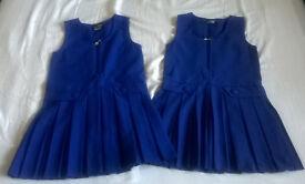 Royal blue pinafore dresses 7-8 years