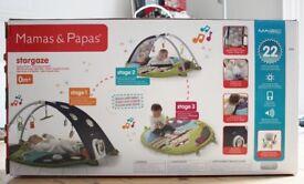 Mamas & Papas MAGIC - Stargaze Stripe Playmat & Gym