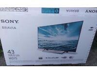 SONY BRAVIA KDL43WD751BU 43 Inch Full HD Smart TV - BRAND NEW COND