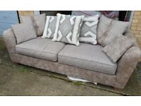 Almost new SCS 3 seater fabric sofa (scatter back) for sale