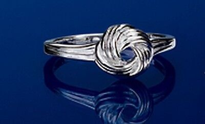 Love Knot Sterling Silver Ring Strong Love Tied Forever sz 6 7 9 10  Reg 49.99 ()