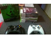 Xbox 360, controllers, games + Head set!