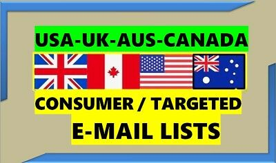 Consumer Email Lists Targeted Email List B2c Email Lists Usa Uk Canada Aus