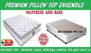 BRAND NEW Queen Bed Ensemble PREMIUM Pillow Top Mattress + Base New Farm Brisbane North East Preview