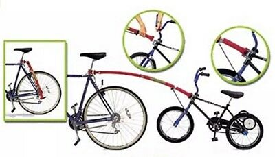 Child Bike Tow Bar (Trail-Gator tow bar - attach kids bike to adult bikes - red trailer bar )