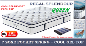 QUEEN Size 7-Zone ORTHOPEDIC Pocket Spring MEMORY FOAM Mattress New Farm Brisbane North East Preview