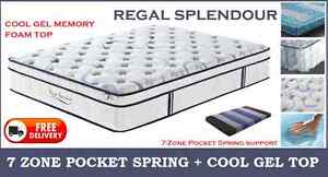 QUEEN Size 7-Zone Pocket Spring MEMORY FOAM Mattress DELIVERED New Farm Brisbane North East Preview