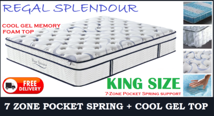 KING Size Orthopedic MEMORY FOAM Mattress DELIVERED FREE