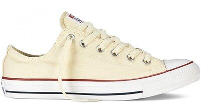 Converse Chuck Taylor Ox Star Bleached Natural White Mens Womens Shoes All (Star White Natural)