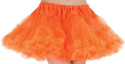 Tutu Adult Costumes (Morris Costumes Women's Tutu Adult Neon Petticoat Skirt Orange One Size.)