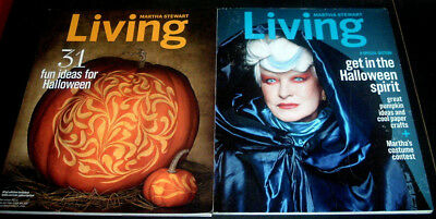 7 Halloween Book Magazine Lot MARTHA STEWART LIVING ~ Pumpkins ~ DIY COSTUMES +](Diy Halloween Foods)