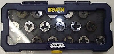 Irwin 4935061 Metric 1 in. Hex Dies 3mm to 12mm with Coarse Fine USA