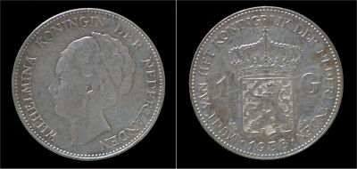 Netherland Wilhelmina I 1 gulden 1938