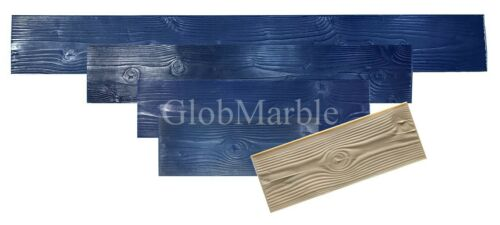 "Wood Concrete Stamp. Wood texture Stamp Mat. Set of 5 mats 9"" Plank SM 5000 S"
