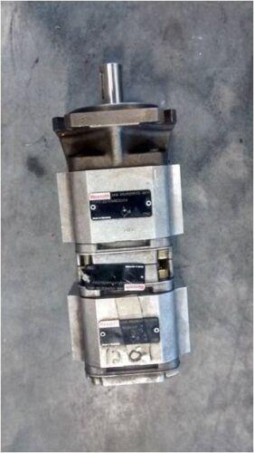 Bosch Rexroth Hydraulic Gear Pump P2GF2/016+GF2/016RE20+20E4 (R900945127), used