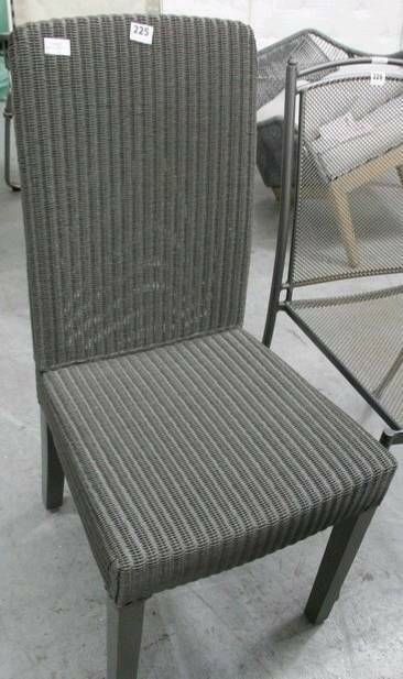 Neptune Montague Lloyd Loom Dining Chair, Slate, Ex Display But New, RRP £