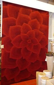 Red rose tufted Pier 1 rug