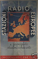 Radiofonia_stazioni Radio Europee_cge_telecomunicazioni_futurismo_con Mappe -  - ebay.it