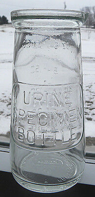 Vintage Urine Specimen Glass Bottle, Doctor, Nurse, Medical,Medicine Vial,Unused
