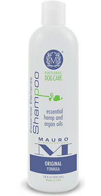 Mauro Natural Dog Shampoo Essential Hemp and Argan Oil 18oz