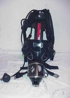Drager Airboss Evolution Harness Assembly Backframe W Panorama Mask With Hud