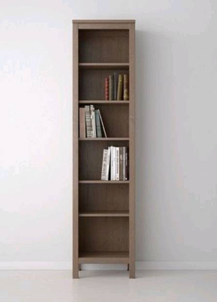 IKEA HEMNES Brown Grey Tall Bookshelf Bookcase Shelving Unit