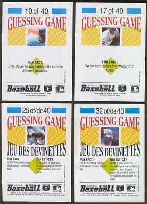 Don Mattingly 1992 Panini Guessing Game #14 pair (White/Maldonado) - Guessing Game