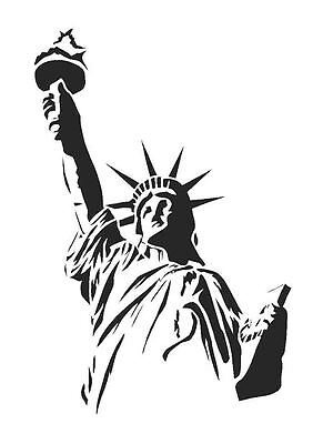 STATUE OF LIBERTY A4 Wall Art , Paint Stencil, Genuine Mylar Re-Useable  (Statue Of Liberty Stencil)